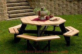 Cinnamon Classy Garden Picnic Table is no doubt vital outdoor furniture at present. It features a contemporary look for today's urban home spaces.