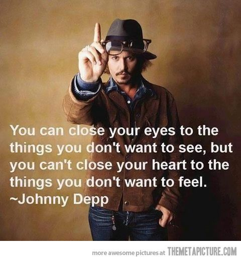 You can't close your heart…