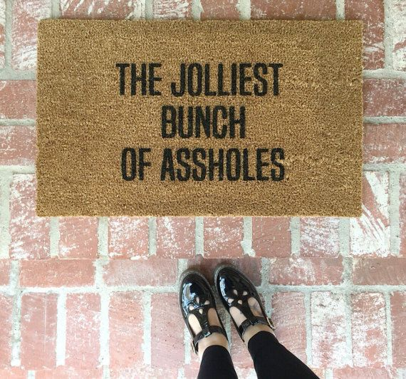 Im sure Im not the only one to say that Christmas Vacation is my all-time favorite Holiday movie. So what better way to represent the Griswold family than the funniest door mat of the season! **PLEASE read all shipping information! There is a slight delay on orders due to high volume. Approximately 4 weeks. Thank you for your understanding! If you need it sooner (or are expecting it quicker than this time frame) please contact me so we can make sure I can accommodate your timeline.  18 x 30…