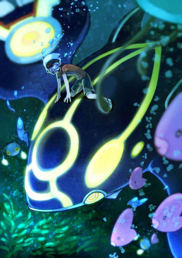 56 best kyogre images on pinterest fan art fanart and pokemon cakes - Pokemon saphir pokemon legendaire ...