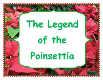 """Free!  Packet based on the story titled, """"The Legend of the Poinsettia"""".  First and second grade range."""