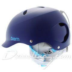 Casco snow Bern Lenox Eps Satin Midnight Blue W/White Liner