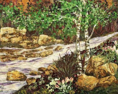 By the Creek - pressed flower art - Shelley Xie