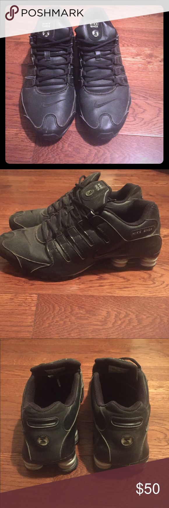 Nike Shox All black Nike Shox, size 12, lightly worn and in very good condition Nike Shoes Sneakers