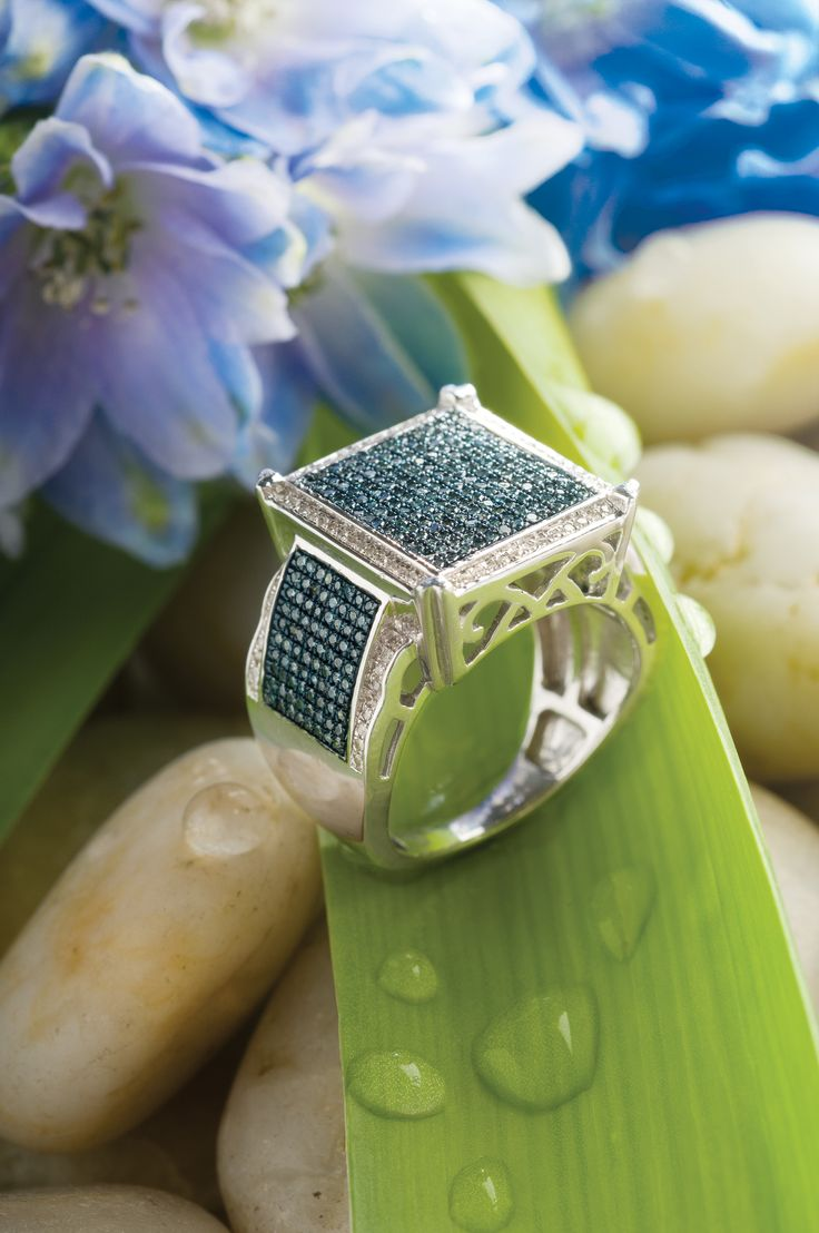 Blue And White #diamond #ring