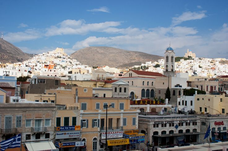 View of Hermoupolis, Syros from the harbor