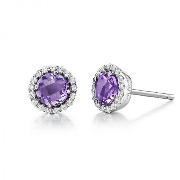 Lafonn February Birthstone Earrings Tjc