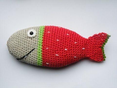 Gratisanleitung Häkelanleitung Für Einen Fisch Erdbeerfisch