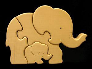 puzzle éléphants en bois