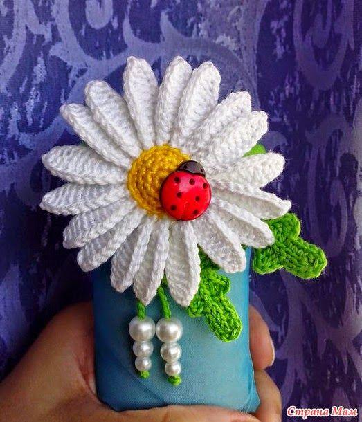 Todo crochet: Flor Margarita al crochet - paso a paso en video ...