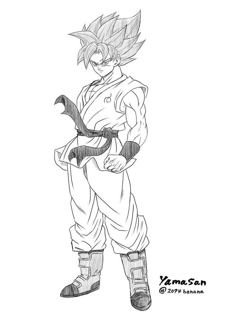 Goku Ssb Dragon Ball Goku Drawing Dragon Ball Z