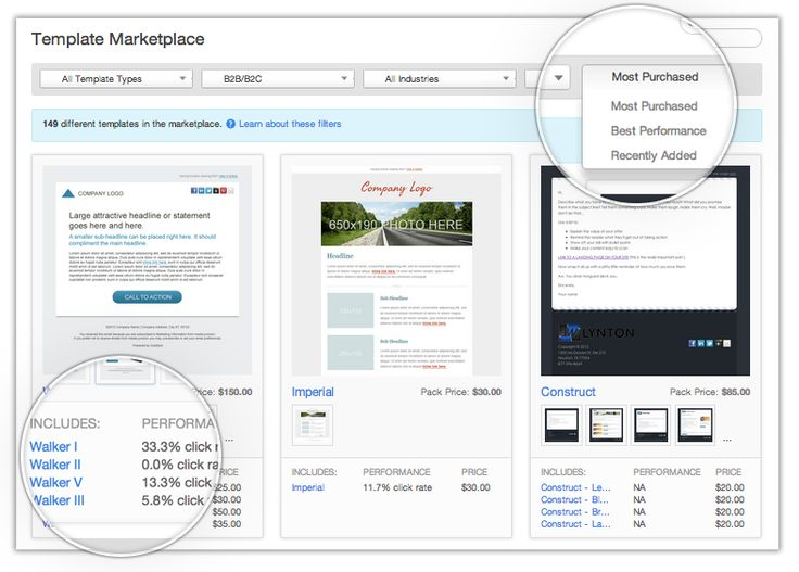 More Options for Email & Landing Page Templates in Page