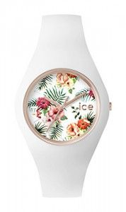 ICE-Watch – ICE.FL.LEG.U.S.15 – Ice #Flower – #Legend – #Montre Femme – Quartz Analogique – Cadran Blanc – Bracelet Silicone Blanc #ICEWatch