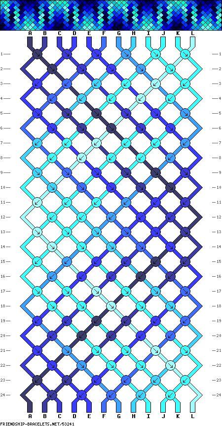 Muster # 53241, Streicher: 12 Zeilen: 24 Farben: 12