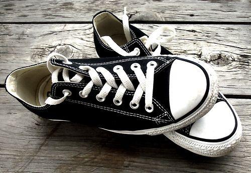beautiful, black and white, converse