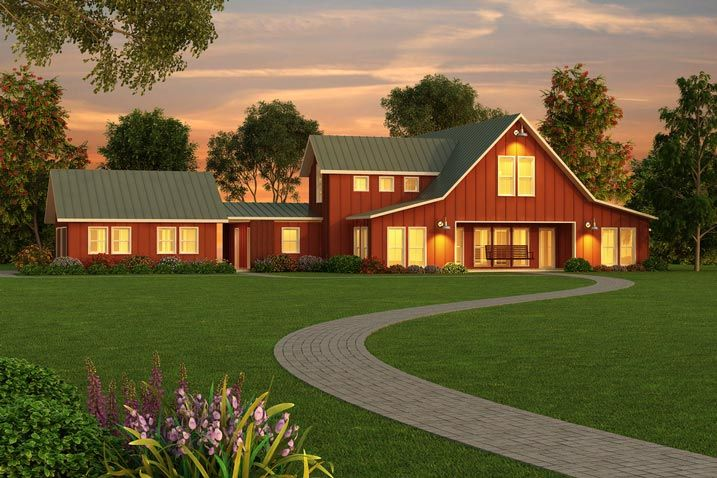184 best images about rigid steel frame home options on for Country barn plans