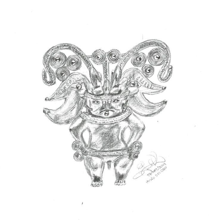Dibujando en el Museo del Oro