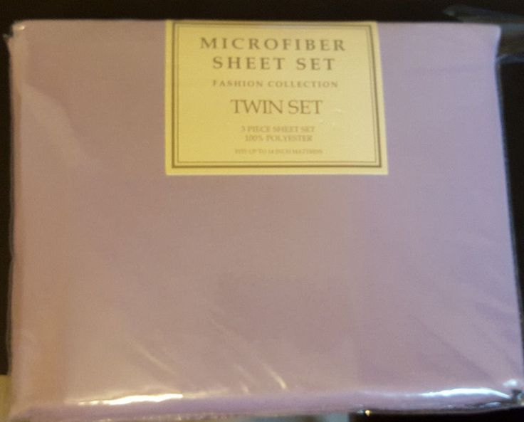 Microfiber Purple Twin Size  Sheet Set Flat Fitted Standard Pillowcase New #PemAmerica #Transitional