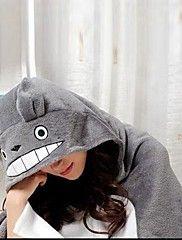 Kigurumi Pigiama Gatto / Totoro Calzamaglia/Pigiama intero Halloween Sleepwear Animal Grigio Collage Vello di corallo Kigurumi Unisex