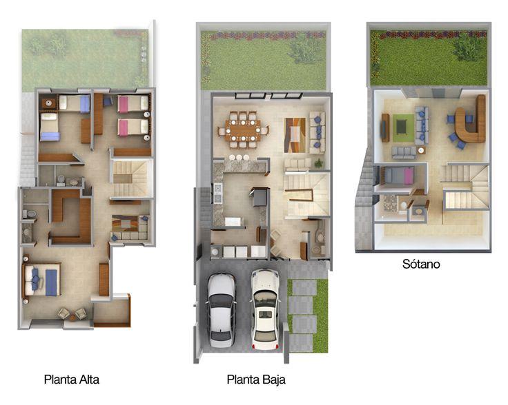 planos de casas modernas planta baja