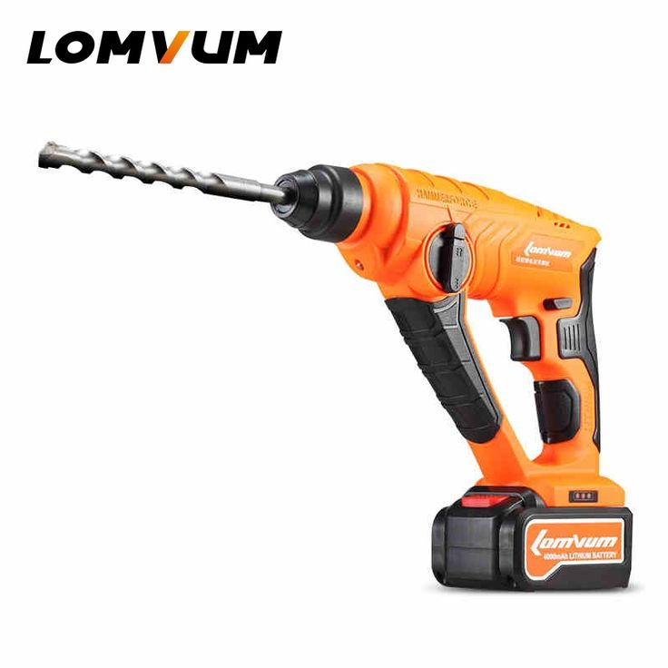 200.06$  Watch here  - LOMVUM 21V electric hammer Cordless impact drill Concrete wall rotary bit power longyun percussion professional Genuine tools