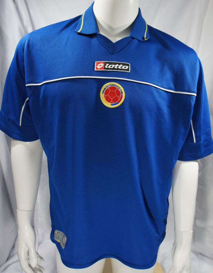 7bd4a6e7e9c ... LOTTO Mens Blue Size L Colombia National Soccer Team Jersey FCF Futbol  Camiseta ...