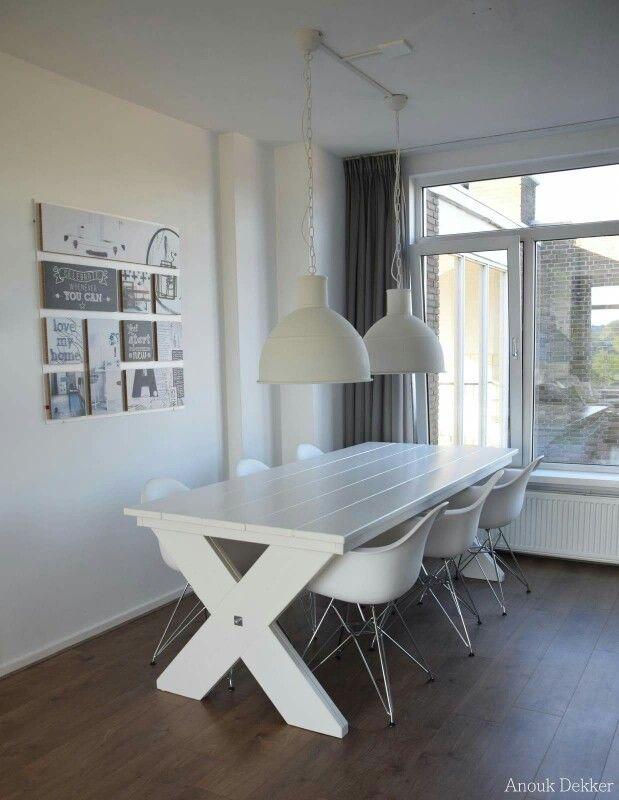 Onze nieuwe tafel. Www.anoukdekker.nl