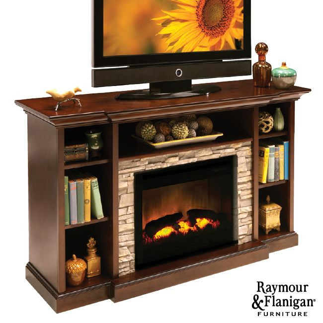 Merrick TV Console with Electric Fireplace | If you love a fire's cozy  ambiance but not - 17 Best Images About Console W/Fireplace On Pinterest Electric