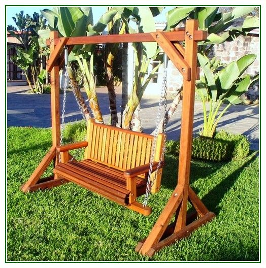Stand Alone Designs : Porch swing stand alone woodworking projects plans