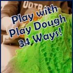Homemade Play Dough Recipe and lots of ways to Pretend, Create & Learn with Play Dough