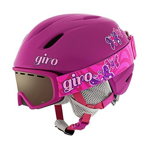 Giro Launch Combo Kids Snow Helmet w/ Matching Goggles  KID CRUZIN?. The easy-wearing Launch helmet features our finest performance technologies in a lightweight, durable In-Mold Construction. The Launch is equipped with the In Form Fit System and offered in two youth sizes ensuring the great fit. The bonus of a soft interior and Super Cool Vents keeps kids comfortable all day long.