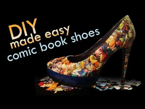 Fashion DIY – Make Your Own Comic Book Shoes - DIY & Crafts