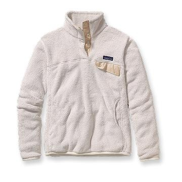 steph made me want one- love this white patagonia pullover fleece $119