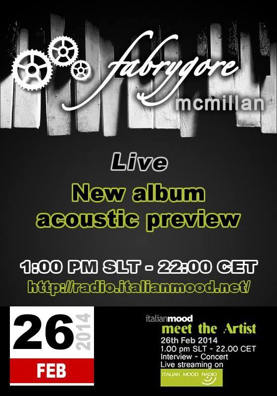 my new album acoustic preview on radio.italianmood.net