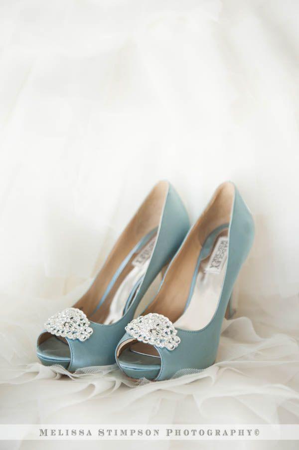 Badgley Mischka sea foam wedding shoes www.melissastimpson.com