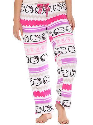Hello Kitty Print Fleece Pants Lounge Sleep Pajama Small - BUY NOW ONLY 5.99