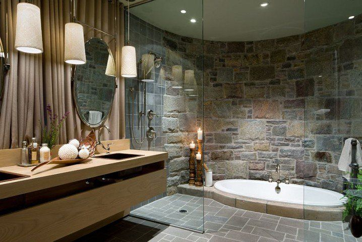 Absolutely Amazing Stone Bathroom Walls That You Are Going To Love