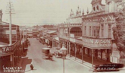 Lackey St,Summer Hill in western Sydney (year unknown).    🌹