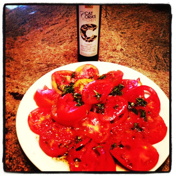 Tomato marinade Gaea's balsamic sauce | Greek recipes, food, and drin ...