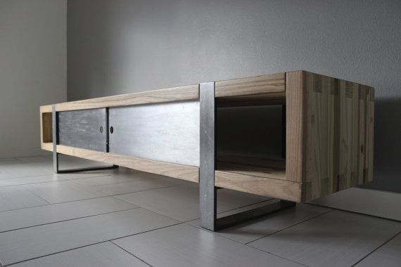 6 39 Industrial Modern Media Console