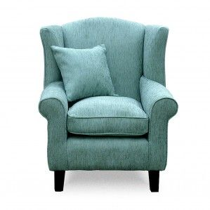 Wingback Chair Duck Egg Blue Front £245