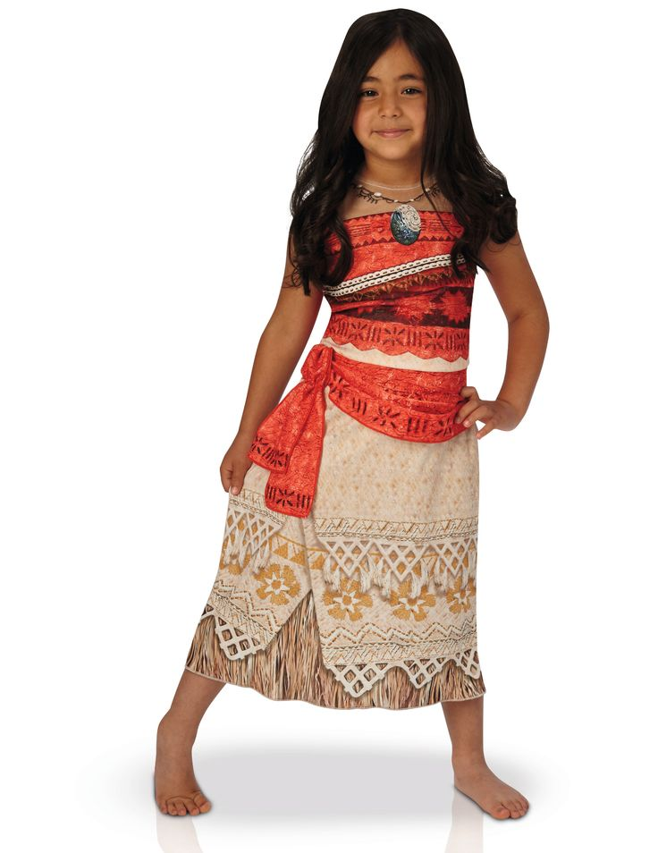 Disfraz de Vaiana™ clásico niño: Este disfraz de Vaiana tiene licencia oficial.Incluye vestido con estampado de Vaiana y tirantes finos.Hay un collar dibujado.Prepara tus fiestas de disfraces de Carnaval con este disfraz...