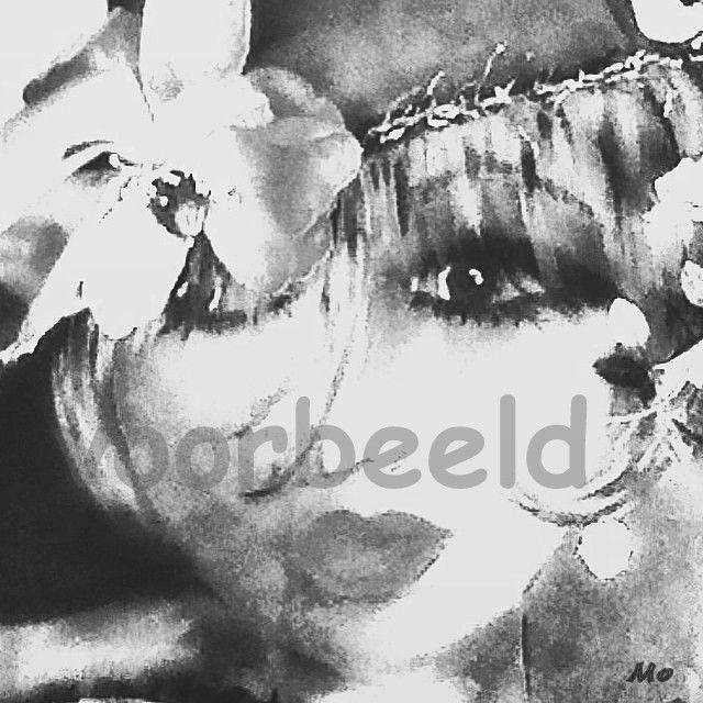 Flower print op hout,poster,forex