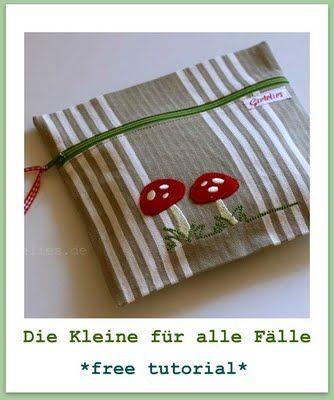cute little pouch, tutorial is in German