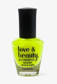 Neon Yellow Nail Polish #Forever21 #DestinationVacation #SweetEscape