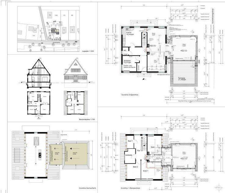 Grundrisse - Anbau an Einfamilienhaus aus den 20er Jahren