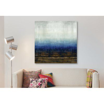 East Urban Home After Glow Ii Painting Print On Wrapped Canvas Size 37 H X 37