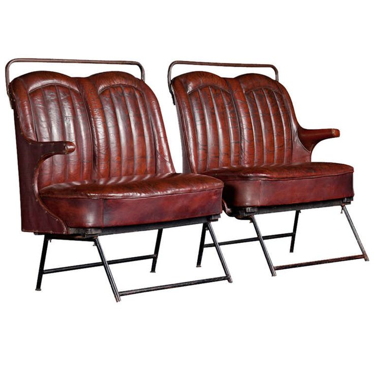Leather Bus Seat | From a unique collection of antique and modern chairs at http://www.1stdibs.com/furniture/seating/chairs/