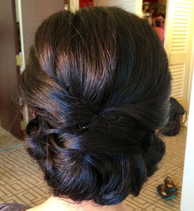 Wedding updo, wedding hair, updo, classic updo, chignon, asian bridal hair