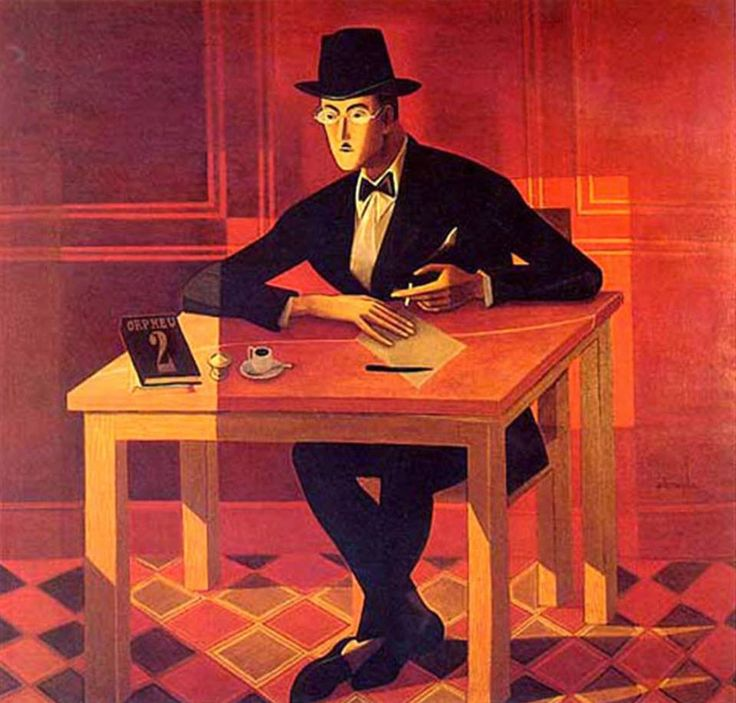 Хосе де Алмада-Negreiros (1893-1970) - портрет Фернандо Пессоа (1964)